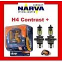 Żarówki H4 12V 60/5W NARVA Contrast+  Plus ZESTAW KPL Power Twin Set
