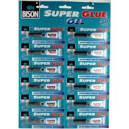 Klej Super Glue GEL BISON Cyjanoakrylowy w żelu 2g