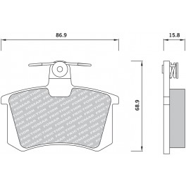 Klocki hamulcowe tył FOMAR 625481 Audi 80 100 A4 A6 A8 Alfa 164